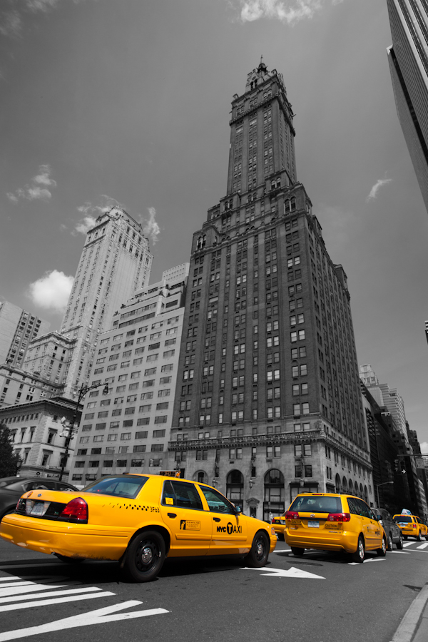 Le blog photo taxis jaunes - Credence new york noir et blanc ...